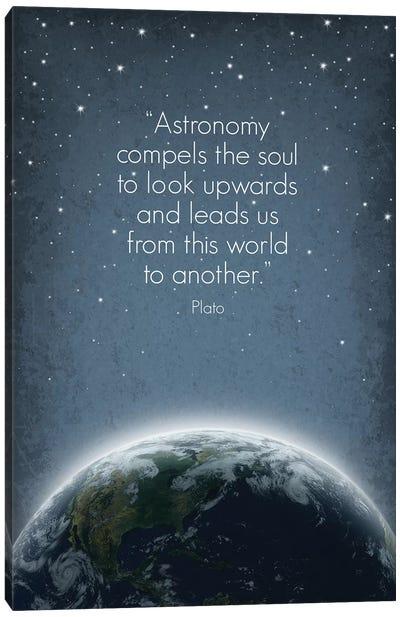 Plato Astronomy Quote Canvas Art Print