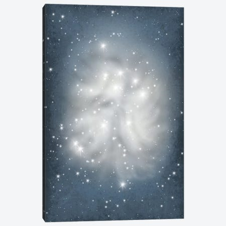 Pleiades Star Cluster Illustration Canvas Print #GYO131} by GetYourNerdOn Canvas Artwork