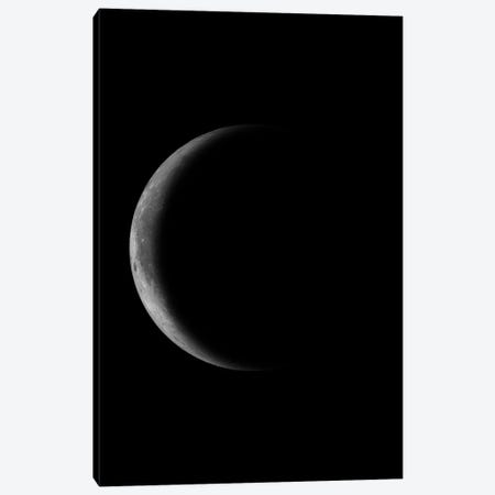 Waning Crescent Moon - Black Canvas Print #GYO132} by GetYourNerdOn Canvas Art