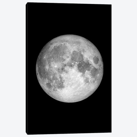 Full Moon - Black Canvas Print #GYO134} by GetYourNerdOn Art Print