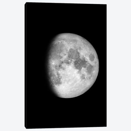 Waxing Gibbous Moon - Black Canvas Print #GYO135} by GetYourNerdOn Canvas Print