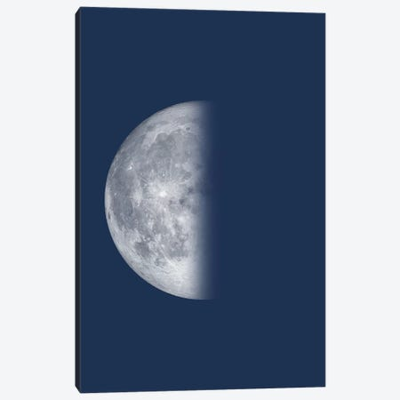 Last Quarter Moon - Blue Canvas Print #GYO138} by GetYourNerdOn Canvas Art