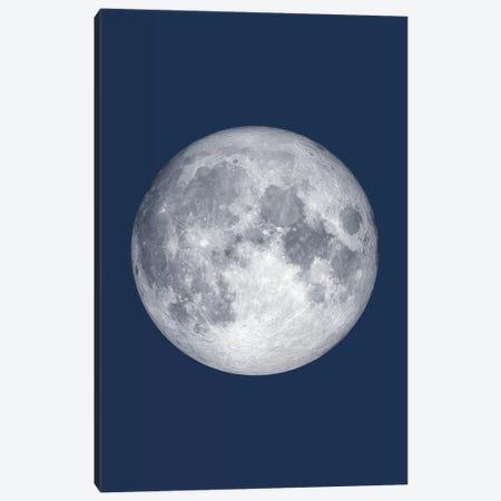 Full Moon - Blue 3-Piece Canvas #GYO139} by GetYourNerdOn Canvas Wall Art