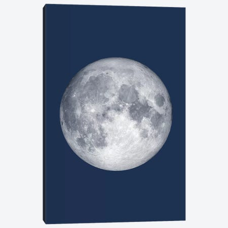 Full Moon - Blue Canvas Print #GYO139} by GetYourNerdOn Canvas Wall Art