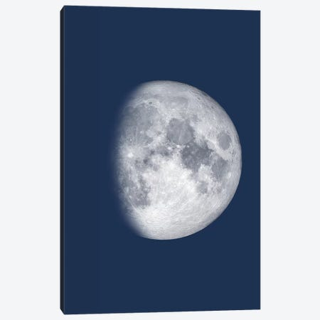Waxing Gibbous Moon - Blue Canvas Print #GYO140} by GetYourNerdOn Canvas Art Print