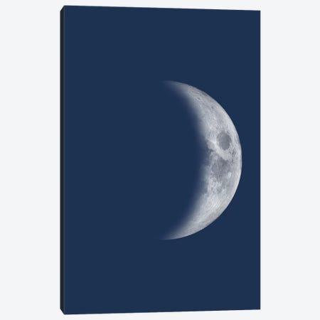 Waxing Crescent Moon - Blue Canvas Print #GYO141} by GetYourNerdOn Canvas Art Print