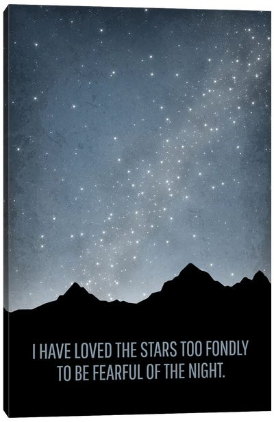 I Have Loved The Stars Astronomy Quote Canvas Art Print