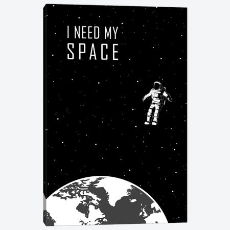 I Just Need Some Space - Black Canvas Print #GYO143} by GetYourNerdOn Canvas Art Print