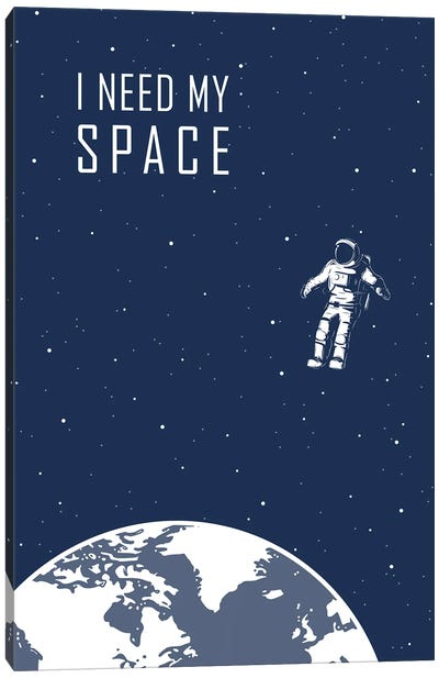 I Just Need Some Space - Blue Canvas Art Print