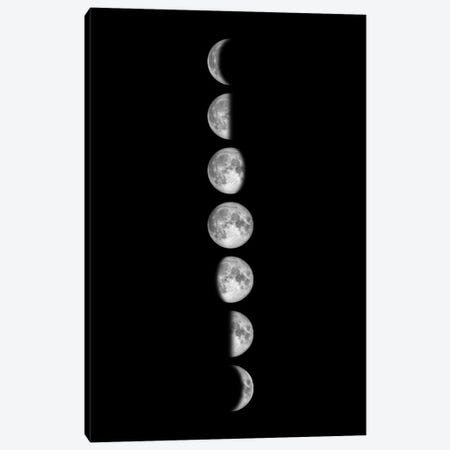 Minimalist Moon Phases - Black Canvas Print #GYO146} by GetYourNerdOn Canvas Art