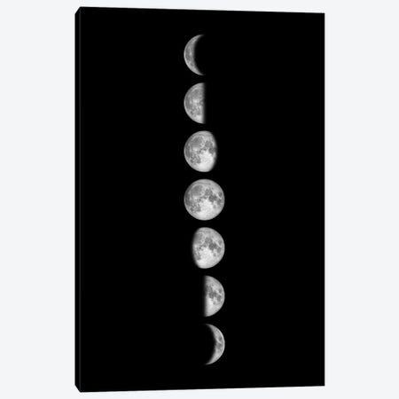 Minimalist Moon Phases - Black Canvas Print #GYO146} by GetYourNerdOn Canvas Art