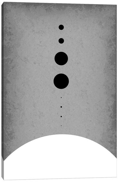 Planets to Scale III Canvas Art Print