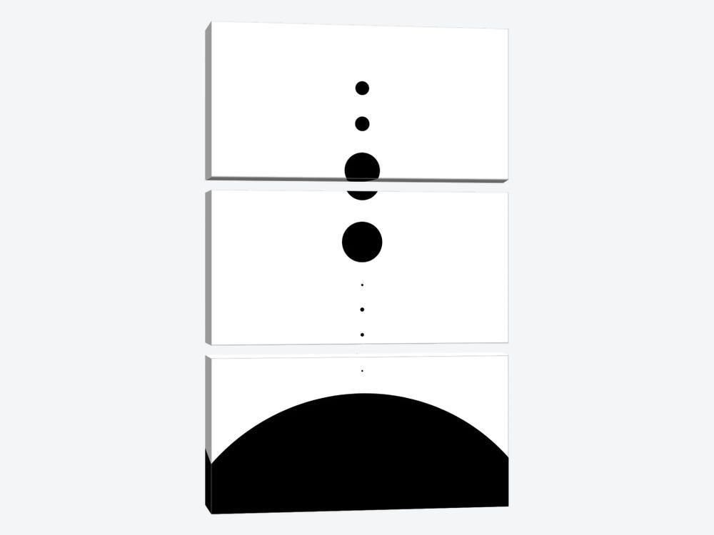 Planets to Scale II by GetYourNerdOn 3-piece Canvas Art Print