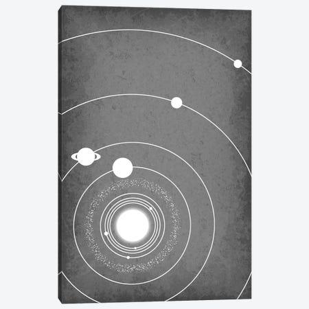Minimalist Solar System III Canvas Print #GYO155} by GetYourNerdOn Canvas Art Print