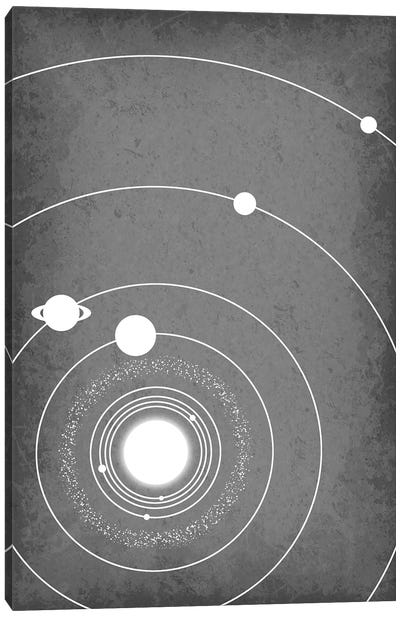 Minimalist Solar System III Canvas Art Print