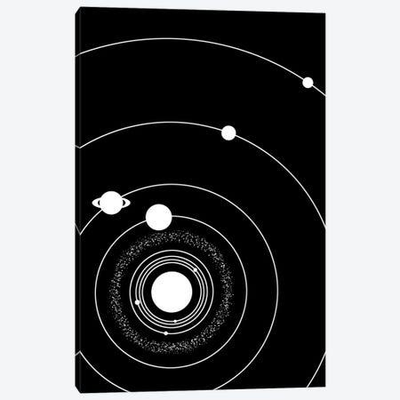 Minimalist Solar System I Canvas Print #GYO156} by GetYourNerdOn Art Print