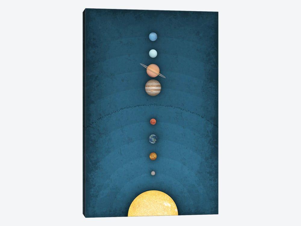 Solar System on Blue I by GetYourNerdOn 1-piece Canvas Art