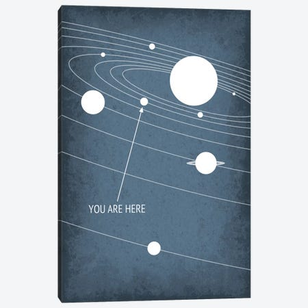 You Are Here - Solar System Canvas Print #GYO160} by GetYourNerdOn Canvas Print