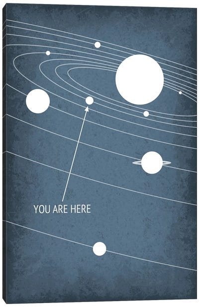 You Are Here - Solar System Canvas Art Print