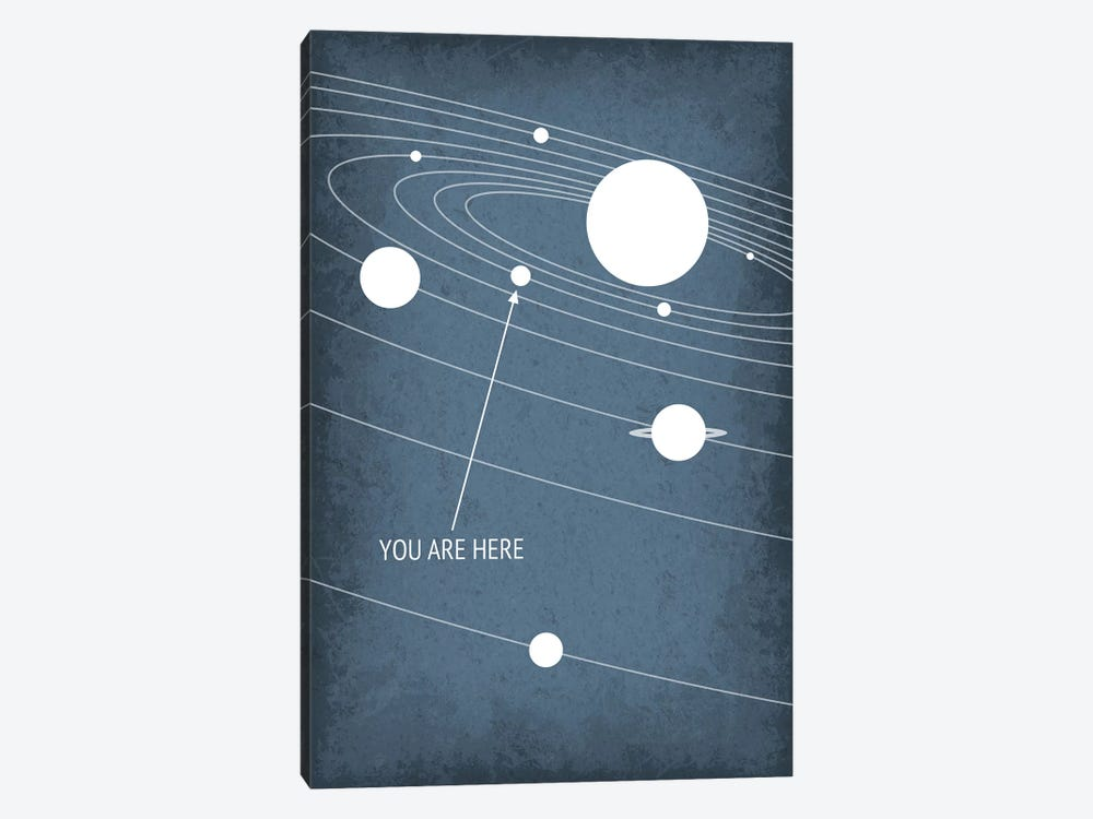 You Are Here - Solar System by GetYourNerdOn 1-piece Canvas Artwork