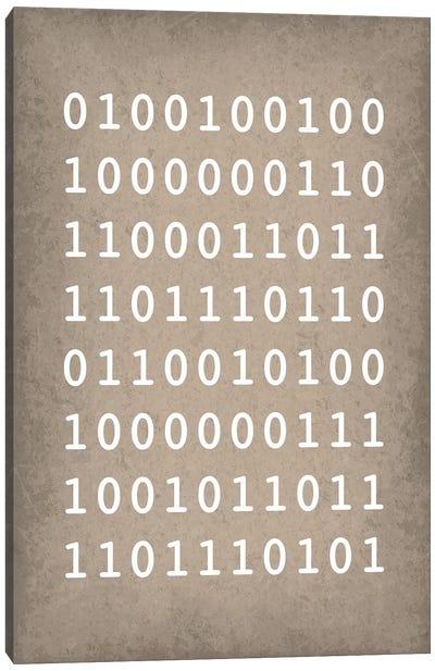 """Binary Code """"I love you"""" Canvas Art Print"""