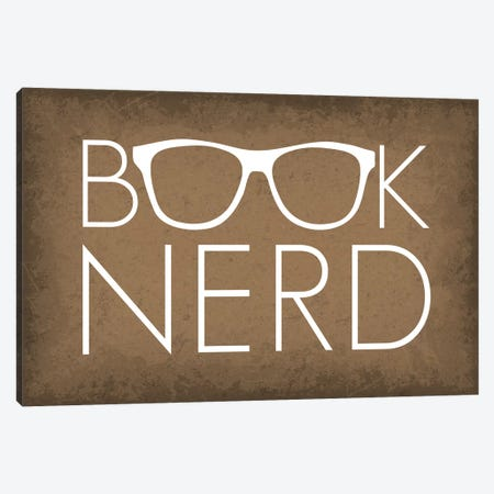 Book Nerd Glasses Canvas Print #GYO164} by GetYourNerdOn Canvas Art