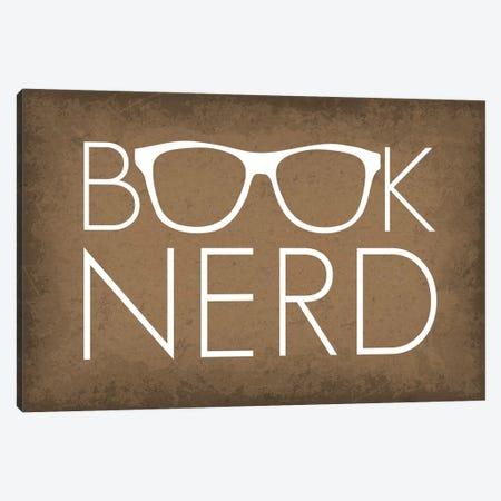 Book Nerd Glasses Canvas Print #GYO164} by GetYourNerdOn Canvas Art