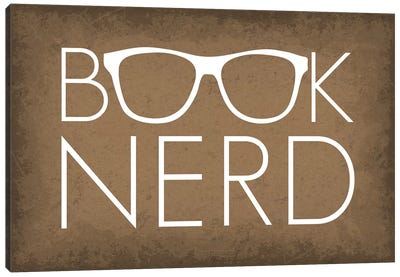 Book Nerd Glasses Canvas Art Print