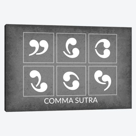 Comma Sutra Canvas Print #GYO165} by GetYourNerdOn Canvas Wall Art