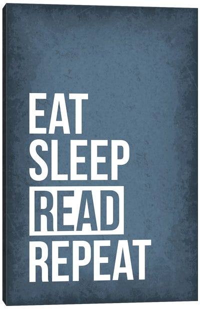 Eat Sleep Read Repeat Canvas Art Print