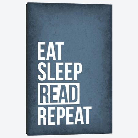 Eat Sleep Read Repeat Canvas Print #GYO166} by GetYourNerdOn Canvas Art