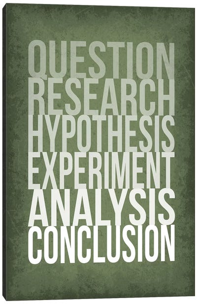 The Scientific Method Steps Canvas Art Print