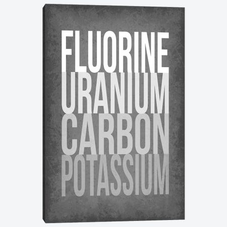 F*** (Periodic Element Names) Canvas Print #GYO176} by GetYourNerdOn Art Print
