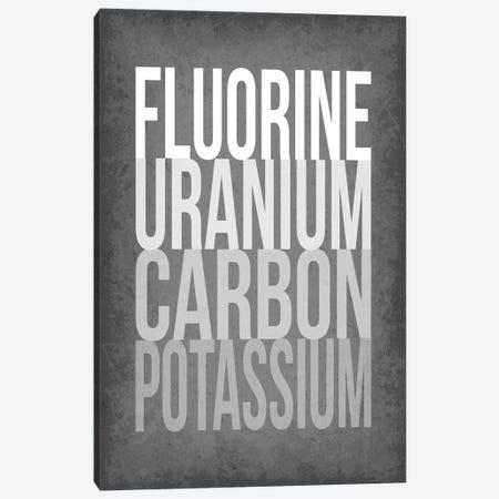 F*** (Periodic Element Names) Canvas Print #GYO176} by GetYourNerdOn Art Print