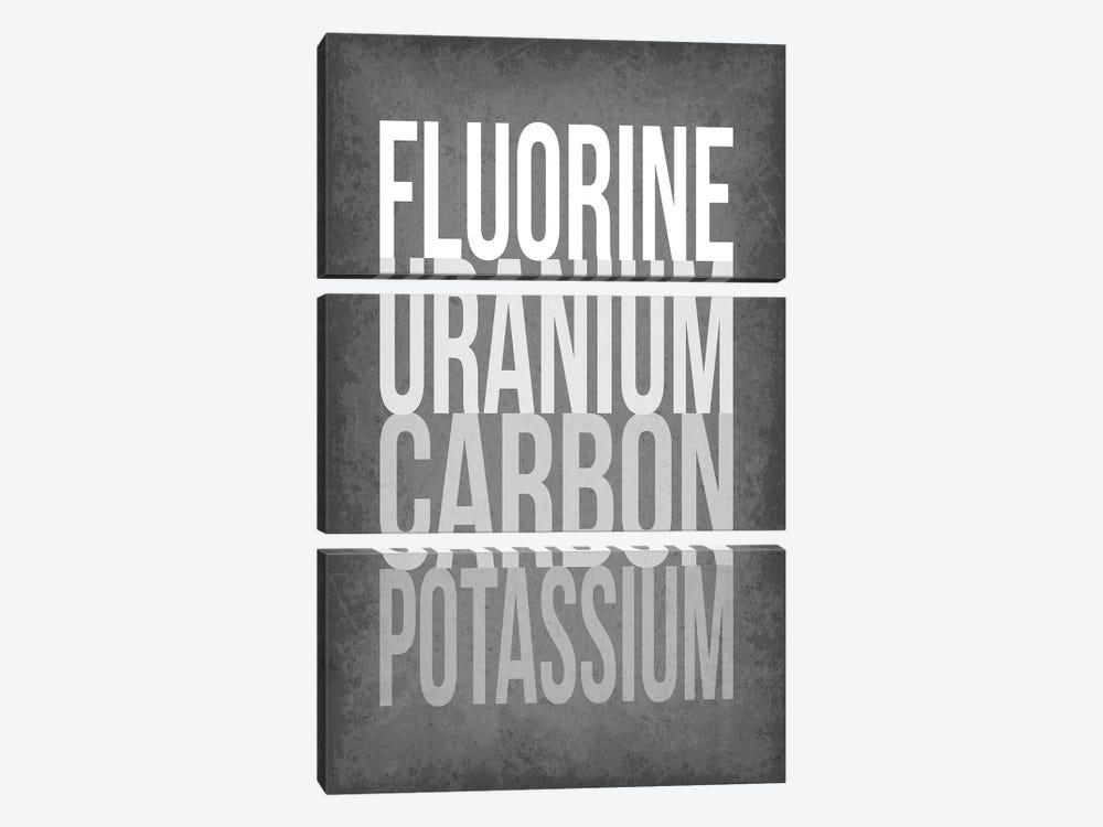 F*** (Periodic Element Names) by GetYourNerdOn 3-piece Art Print
