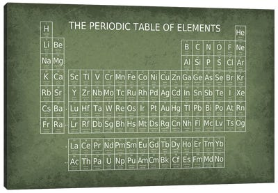 Periodic Table of Elements Canvas Art Print