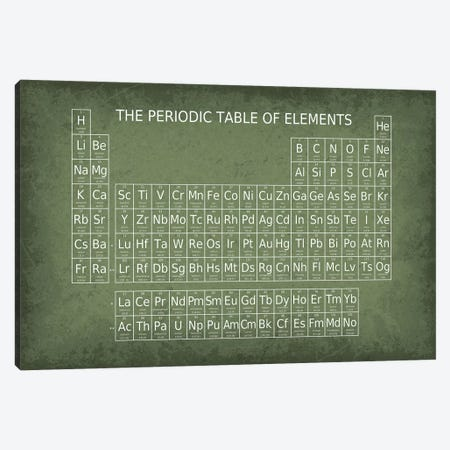 Periodic Table of Elements Canvas Print #GYO178} by GetYourNerdOn Canvas Wall Art