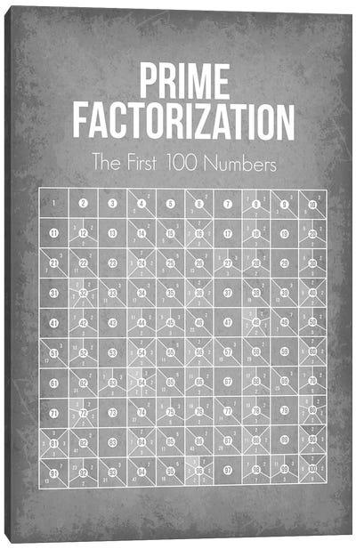 Prime Factorization Chart Canvas Art Print