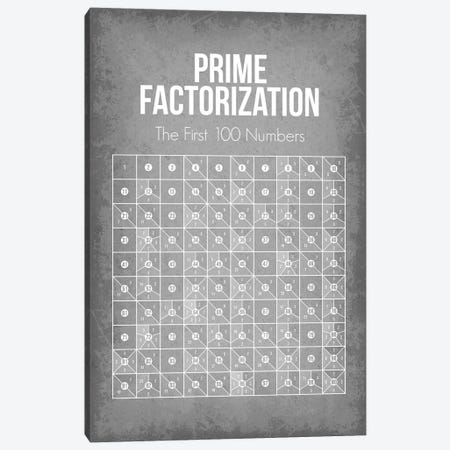Prime Factorization Chart Canvas Print #GYO184} by GetYourNerdOn Canvas Artwork