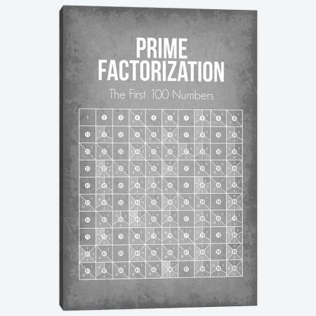 Prime Factorization Chart Canvas Print #GYO184} by GetYourNerdOn Canvas Artwork
