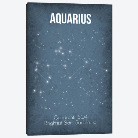 Aquarius Canvas Print #GYO18} by GetYourNerdOn Canvas Art