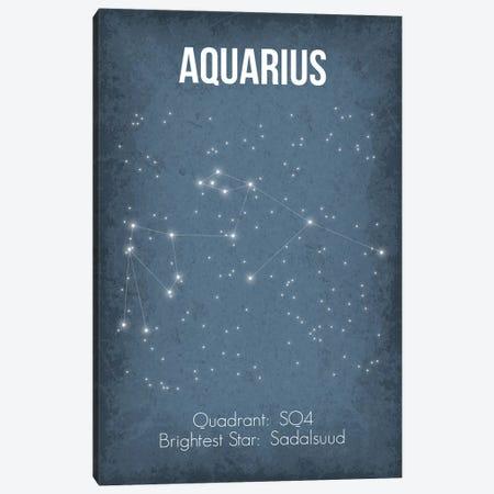 Aquarius Canvas Print #GYO18} by GetYourNerdOn Canvas Art