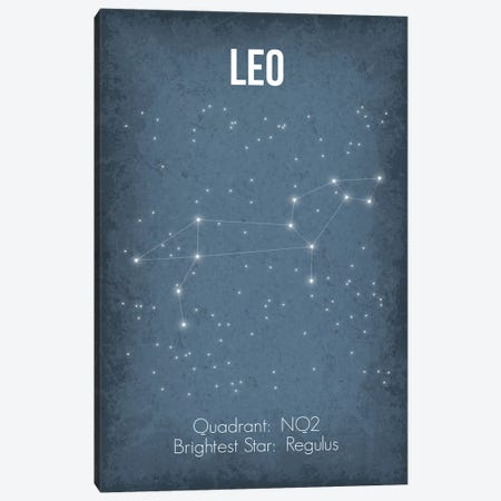Leo Canvas Print #GYO28} by GetYourNerdOn Art Print
