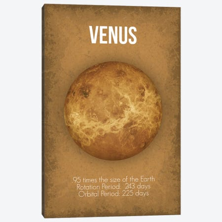 Venus Canvas Print #GYO2} by GetYourNerdOn Canvas Wall Art