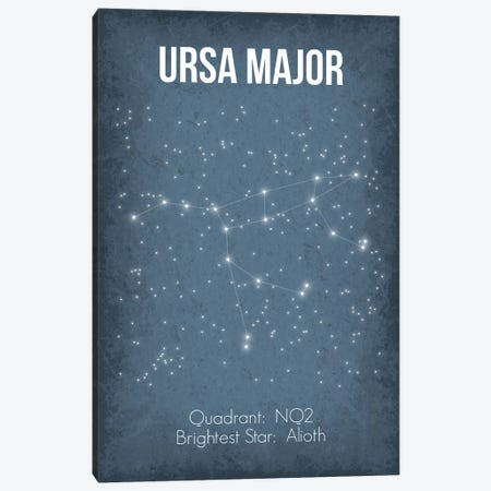 Ursa Major Canvas Print #GYO39} by GetYourNerdOn Canvas Artwork