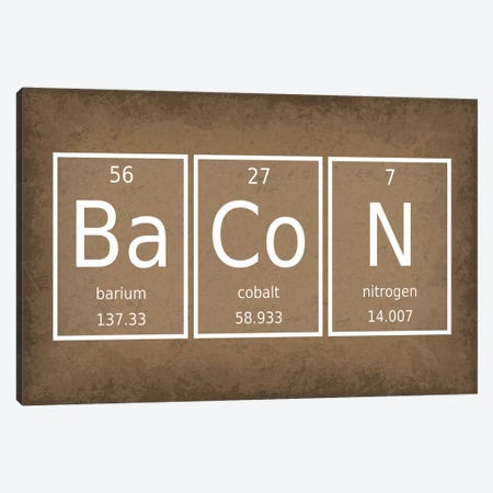 Bacon Canvas Print #GYO43} by GetYourNerdOn Canvas Print
