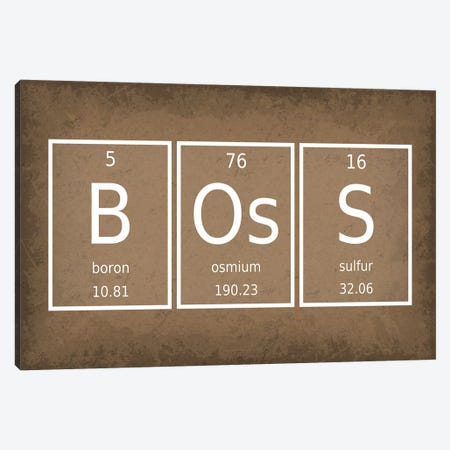 Boss Canvas Print #GYO47} by GetYourNerdOn Canvas Art
