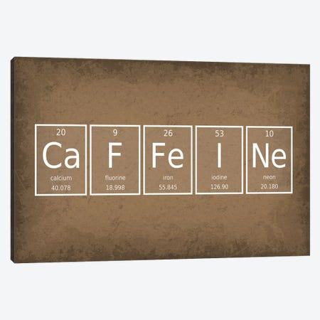 Caffeine Canvas Print #GYO49} by GetYourNerdOn Art Print
