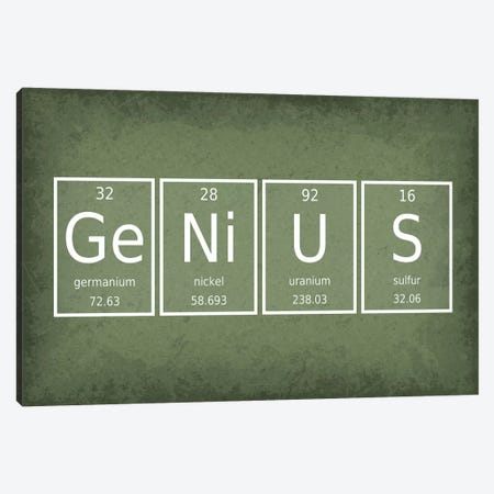Genius Canvas Print #GYO52} by GetYourNerdOn Canvas Wall Art