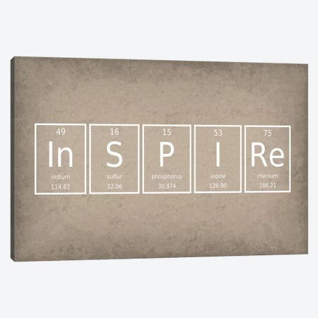 Inspire Canvas Print #GYO55} by GetYourNerdOn Canvas Print